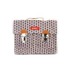 [bakker] Canvas & leather Satchel_mini_x indigo