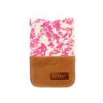 [bakker] 캔버스 & 가죽 아이폰 파우치_J/Neon pink