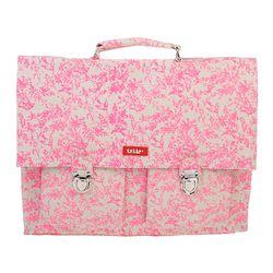 [bakker] Canvas Strap Satchel_M_jouy neon pink