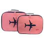 [bakker] Canvas Suitcases set of 2_chevrons_a