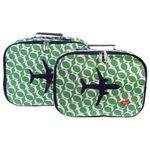[bakker] Canvas Suitcases set of 2_kelly green_a