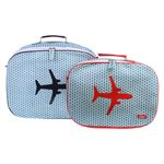 [bakker] Canvas Suitcases set of 2_x turquoise_a
