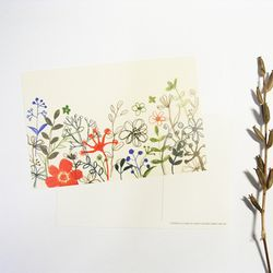 펀사 디자인엽서 - 꽃패턴A
