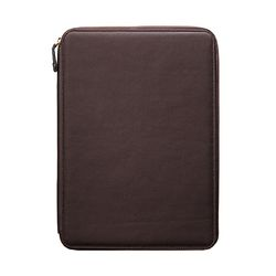 A4 지퍼형 메모패드 Synthetic Leather [브라운]