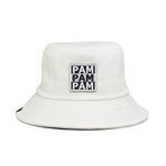 3PAM LEATHER BUCKET HAT-WHITE