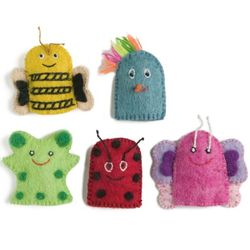 Finger Puppets Colorful - 1 sets of 5 pcs
