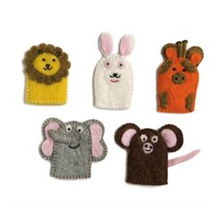 Finger Puppets Wild Animals - 1 sets of 5 pcs