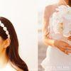 웨딩 flower lace band (플라워 레이스 헤어밴드)