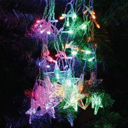 LED 160P 별커튼 투명선 [백색&웜&칼라&남색]
