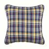 Tartan Plaid Throw Pillow (Grey Navy Yellow White)