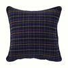Napped Check Throw Pillow (Navy  Red  Yellow)
