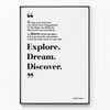 메탈 모던 레터링 액자 Explore Dream Discover