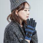 [Smart Phone]Tender weft Wool Gloves Blue