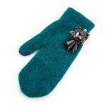 [Smart Phone]Re girl Angora Gloves Blue green