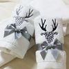 initials deer towel