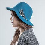 Yours a bird Wool Hat Oriental Blue