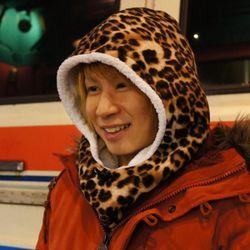 곰돌이 후드 워머 leopard