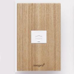 SOOPRO 나무콘센트(애쉬) 모듈라1구
