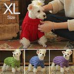 애견 꽈배기 손뜨개 스웨터 XL