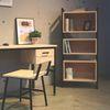 Lin natural birch st bookcase