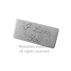 [Mybutton]I.Love.You Letter Brooch