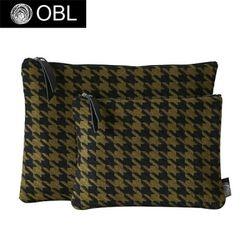 OBL 하운드투스 올리브 클러치백(M)