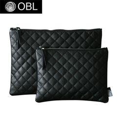 OBL quilting black clutch bag-퀼팅블랙 클러치백(L)