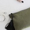 Pure Linen Pouch [olive green]