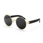 soprano 05 gold bk temple sunglasses