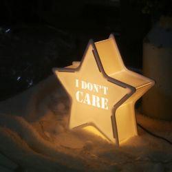 화이트 STAR [I DONT CARE] 카피라이트