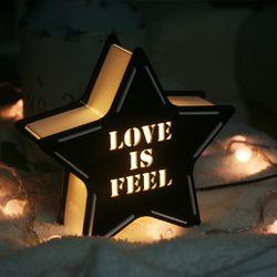 블랙 STAR [LOVE IS FEEL] 카피라이트