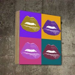 팝아트액자 빈티지 입술 인테리어 그림 SQ-345