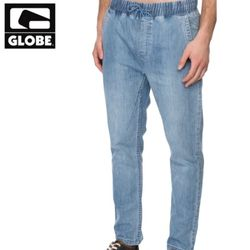 [GLOBE] GOODSTOCK BEACH SLIM FIT PANT (INDIGO)