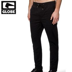 [GLOBE] GOODSTOCK BEACH SLIM FIT PANT (BLACK)