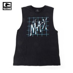 [GLOBE] ALL TIME CUT OFF TANK TOP (ACID BLACKMAX)