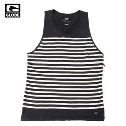 MOONSHINE SINGLET TANK TOP (ACID BLACK STRIPE)