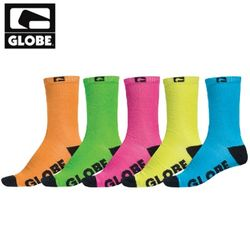 [GLOBE] NEON CREW SOCK 5 PACK (ASSORTED)