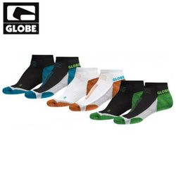 [GLOBE] LEFT AND RIGHT SOCK 3 PACK (ASSORTED)