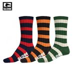 THIN STRIPE BOOT DELUXE SOCK 3 PACK (ASSORTED)