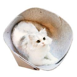 MEOW MEOW 펠트바스켓-고양이하우스