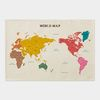 패브릭 세계지도 M 501(한글) 라지