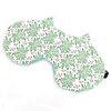 자루캣 수면안대(풀꽃 그린)