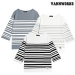 밴웍스 보트넥 스트라이프 티셔츠 3칼라 (V15TS011)