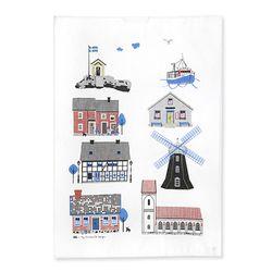 Houses by the Sea Tea towel 티타올 (멀티)