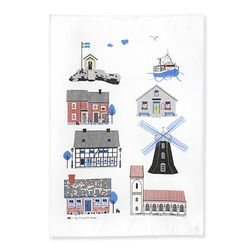 Houses by the Sea Tea towel 티타올 (멀티)