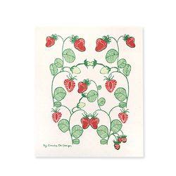 Strawberries Dishcloth 스웨덴 행주 (레드)