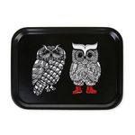 Lovely Owls 우드트레이 27x20cm (블랙)