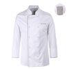 (AJ1583) bamboo moisture chef coat white