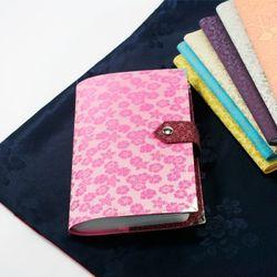 비단배색통장지갑