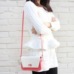 세이지 미니백 Pink white